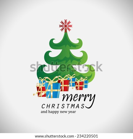 Christmas Background - Vector Illustration, Graphic Design Editable For Your Design