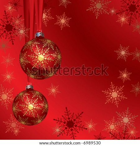Christmas Background (vector). In the gallery also available XXL jpeg image made from this vector - stock vector