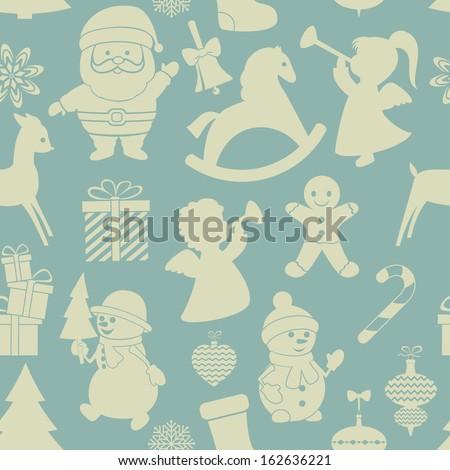 Christmas  background. Vector, seamless, EPS 8. - stock vector