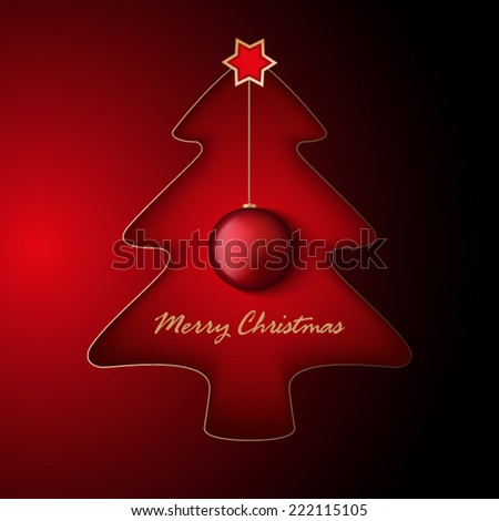 Christmas background - vector template