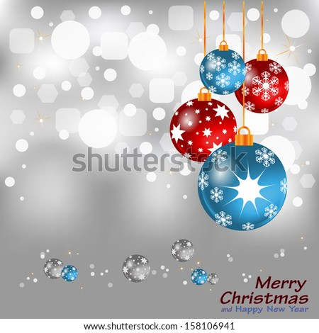 Christmas background with balls Stock Illustration - stock vector
