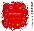 Christmas background with cute icons and elements - stock vector