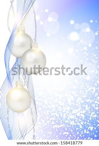 Christmas background with evening balls
