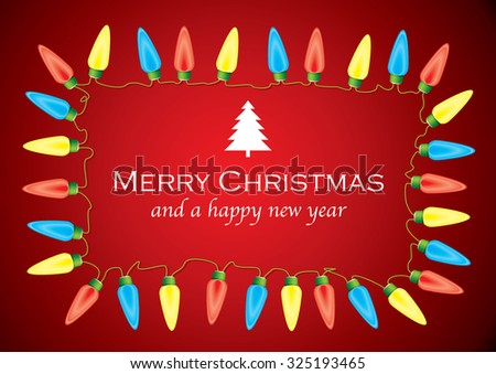 Christmas background with festive xmas message - stock vector