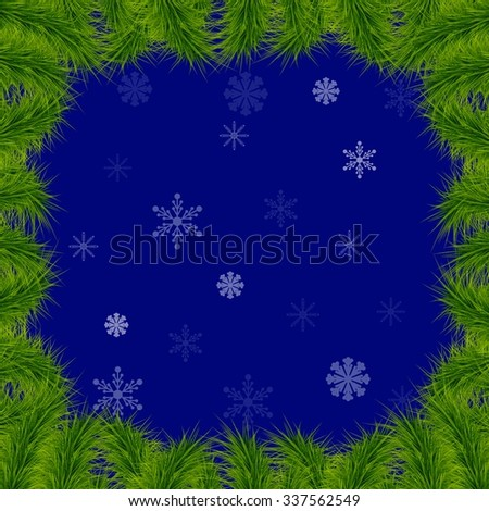Christmas background with fir branches - stock vector