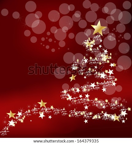 Christmas background with new year's tree - stock vector
