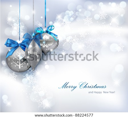 Christmas Background with ornaments. Vector Illustration. - stock vector