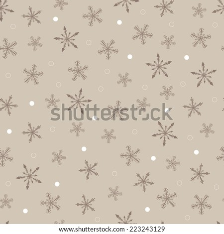 christmas background with ornaments, vector, seamless pattern