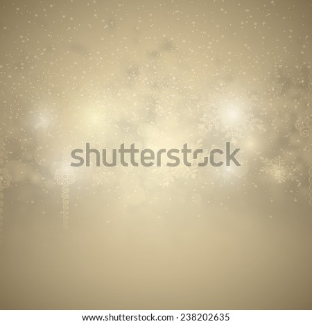 Christmas Background With Snow And Snowflakes - stock vector