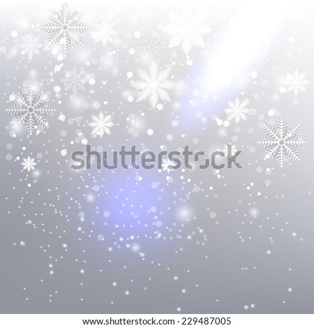 Christmas background with snowflakes  - stock vector
