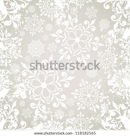 Christmas background with snowflakes. Seamless pattern. - stock vector