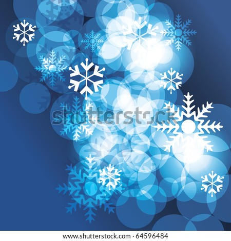 Christmas background with snowflakes - vector - stock vector
