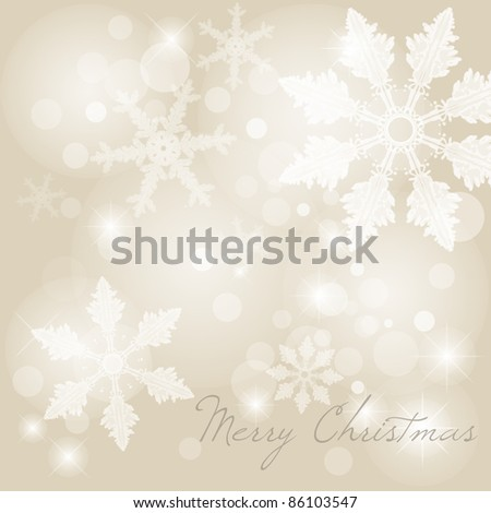 Christmas background with snowflakes , vector - stock vector