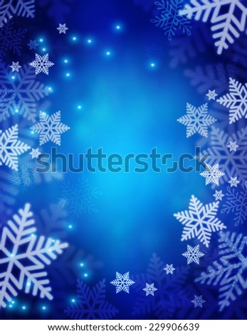 Christmas background with snowflakes. Vector illustration - stock vector