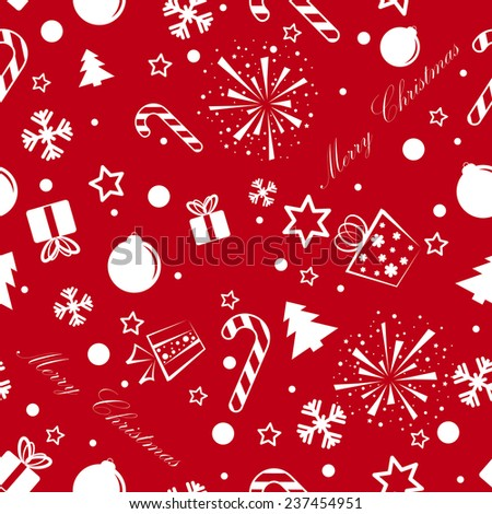 Christmas background with some signs. eps10 - stock vector