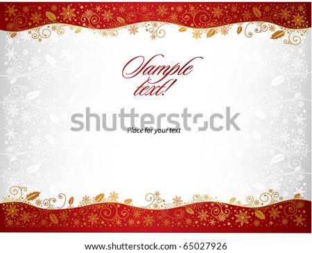 Christmas background with space for text. All elements on separate layers. - stock vector