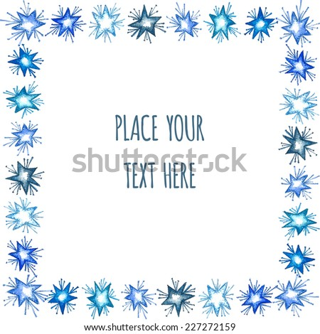 Christmas background with star element. New Year card with place for your text.