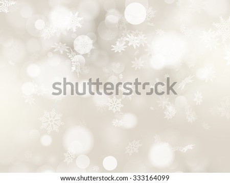 Christmas background with white snowflakes and place for your text. EPS 10 vector file included - stock vector
