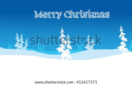 Christmas backgrounds hills scenery of vector illustration