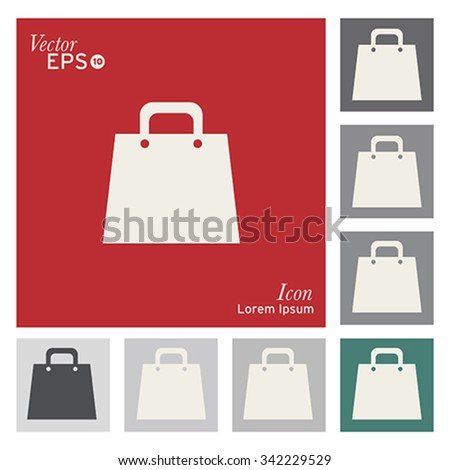 Christmas bags icon - vector, illustration. - stock vector