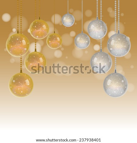 Christmas ball background decorate with background, Vector holiday concept - stock vector