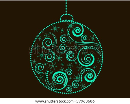 Christmas ball decorative abstraction background - stock vector