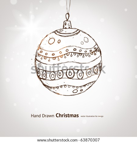 christmas ball for xmas design with ball - stock vector