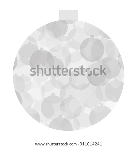 Christmas ball in shades of gray - stock vector