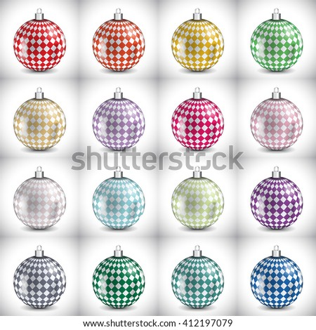 christmas ball realistic 3D icon vector