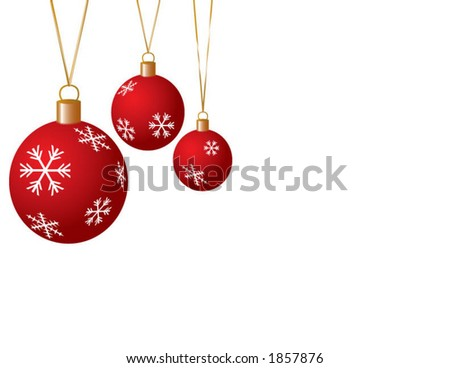 Christmas Ball Vector with Snowflakes
