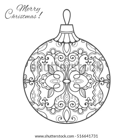 Christmas Ball Clip Art Black And White Images Gallery