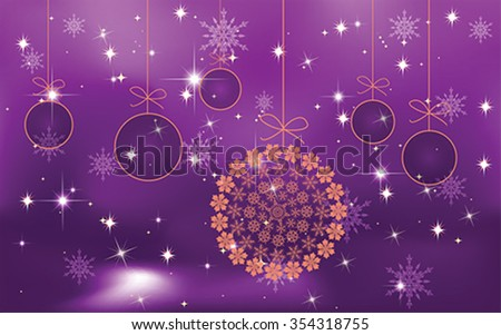christmas balls  background, vector - stock vector