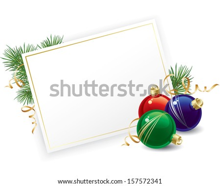 Christmas balls  background. Vector  illustration - stock vector