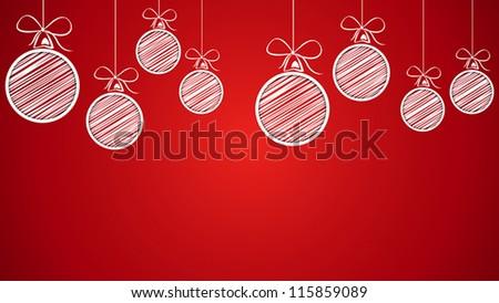 christmas balls. christmas balls concept - stock vector