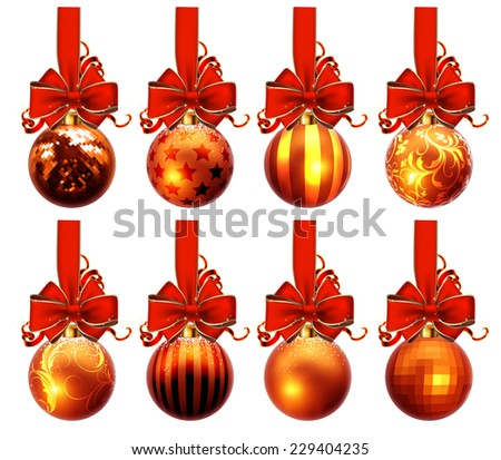 christmas balls design - stock vector