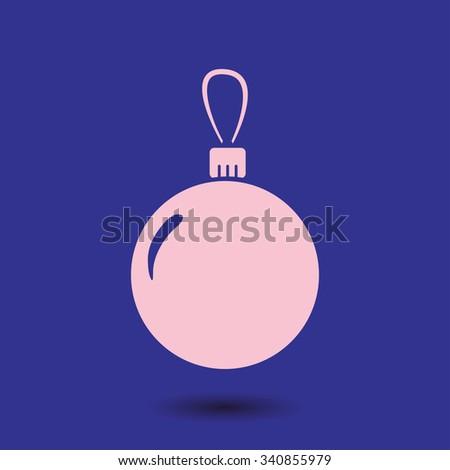 Christmas balls icon. - stock vector
