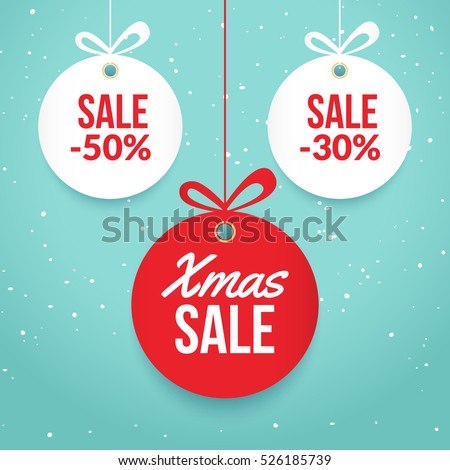 Christmas tag stock images royalty free images vectors christmas balls sale special offer vector tag new year holiday card template shop pronofoot35fo Images