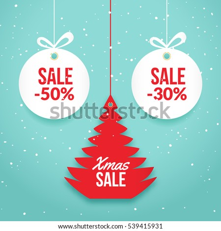 Christmas Balls Sale Special Offer Vector Stock Vector 521521183