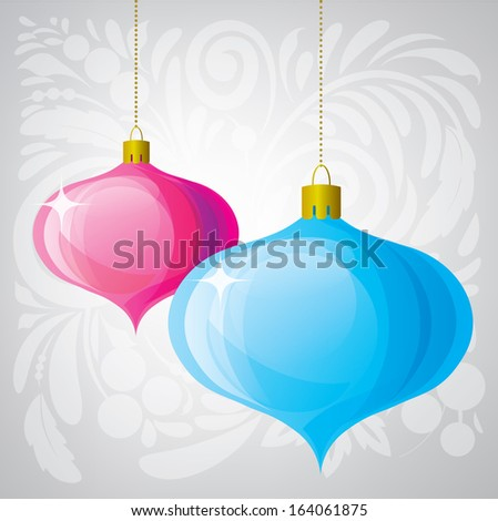 Christmas balls. Vector design elements