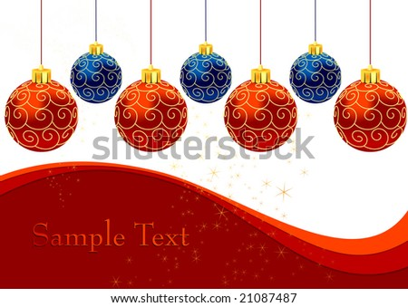 Christmas balls with ornament, vector illustration, EPS file included