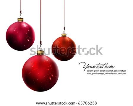 Christmas Balls with Shiny Water Drops | Vector Set - stock vector