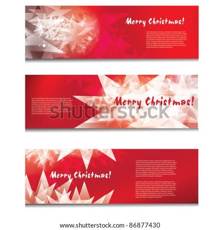 Christmas banner design - stock vector