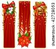 Christmas banner set - stock vector