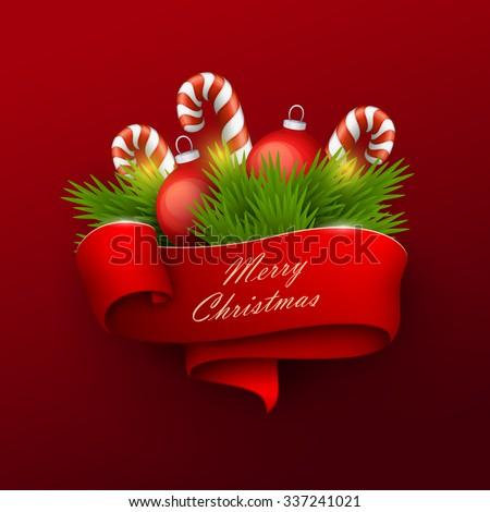 Christmas banner. Vector illustration. - stock vector