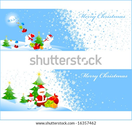 Christmas banners with space for your text