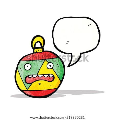 christmas bauble cartoon character - stock vector