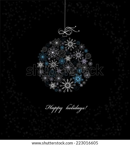 Christmas bauble from snowflakes. Vector - stock vector