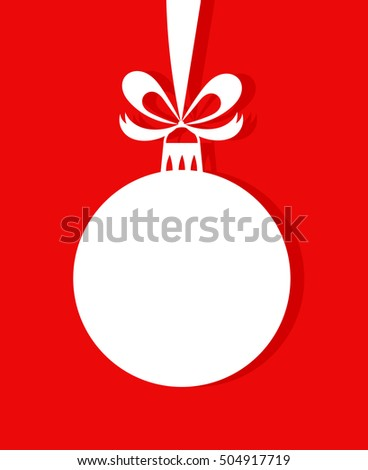 Christmas bauble ornament. Vector illustration