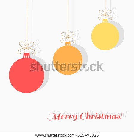 Christmas baubles background. Vector illustration