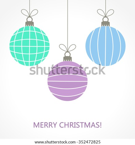 Christmas baubles ornaments illustration - stock vector